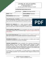 VALORACIONES PSICOLOGICAS 2012