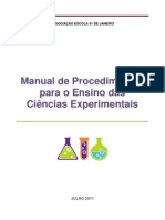 Manual de Procedimentos Ciencias