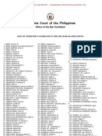 Bar Admitted Candidates