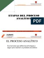 Etapas del Proceso Analítico