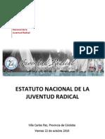 Estatuto Nacional de La Juventud Radical 1