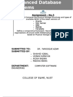 Advanced Database Systems Ass 5
