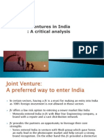 Joint Venture in India