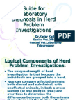 Guide for Laboratory Diagnosis in Herd Problem Investigations