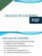 Cálculos de Equipos Calderas