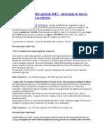 Arendarea bunurilor agricole 2012