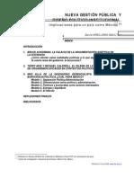 NUEVA GESTIÓN PÚBLICA Y DISEÑO POLÍTICO-INSTITUCIONAL.