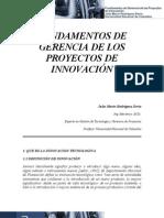 Fundamentos de Gerencia de Los Proyectos de Innovacion