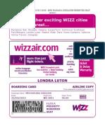 Wizzair Boarding Mrs Radiana Iordache