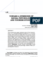 Toward a Symbiosis of Social Psychology and Tourism