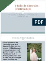 Gender Roles in Same Sex Relationships