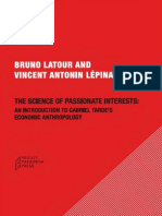 The Science of Passionate Interests Latour