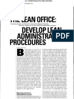 The Lean Office Develop Lean Administrative Procedures 2009