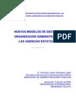 NUEVOS MODELOS DE GESTIÓN Y ORGANIZACIÓN ADMINISTRATIVA