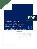 Controle de Gestion Couts Partiels