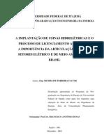 A Implantacao Usinas Hidreletricas Processo de Licenciamento Ambiental