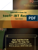 Reading - ToEFL Ibt