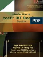 Reading - ToEFL Ibt