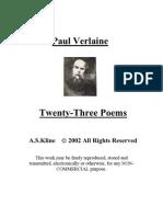 Paul Verlaine - Twenty-Three Poems