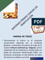 MATERIAS PRIMAS USADAS EN PANIFICACIÓN