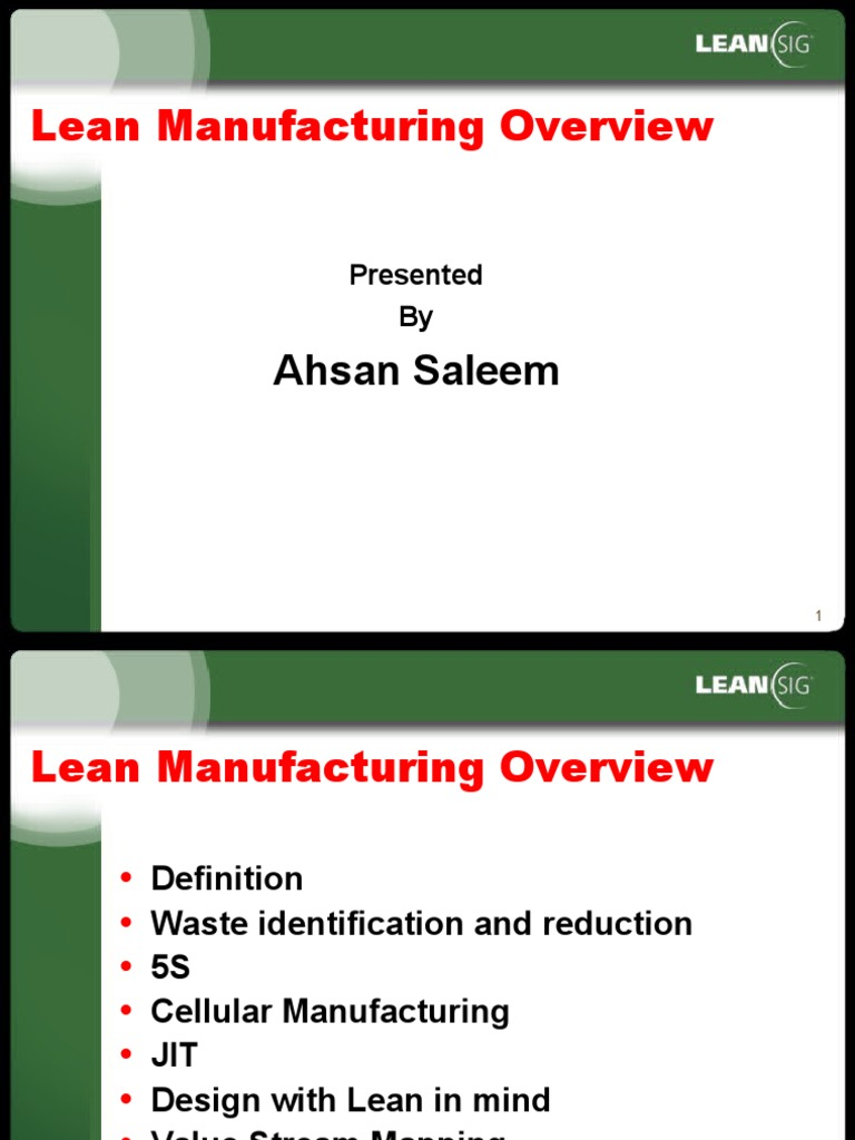 lean manufacturing overview | lean manufacturing | supply chain