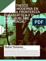 Madina Tlostanova - La Aesthesis trans-moderna en la zona fronteriza eurasiática y el anti-sublima decolonial