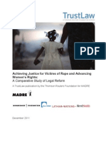 Achieving Justice for Victims of Rape and Advancing  Women's Rights