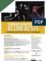 Student Rush Flyer