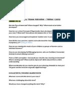 Koputaroa Rimu Team Review Term 1 2012