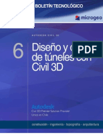 boletin nº6 diseño y control de tuneles con civil 3d