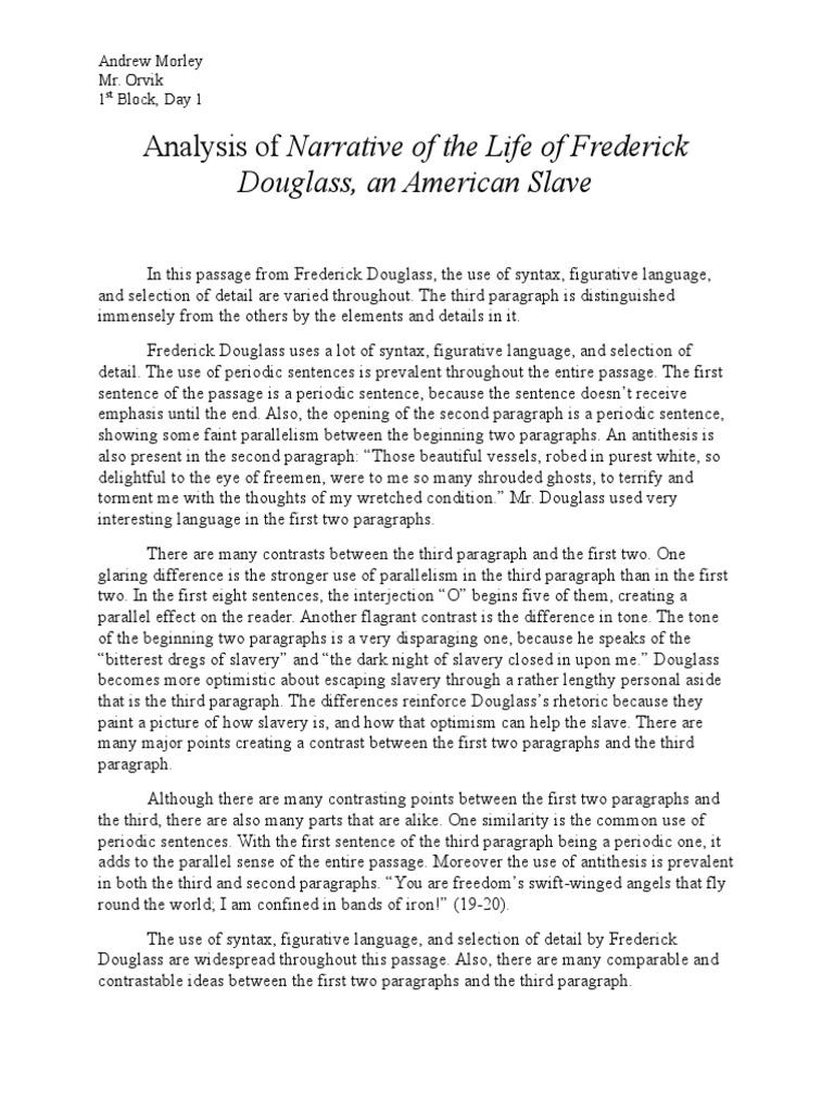Essay topics narrative frederick douglass homework help for high schoolers