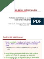2 - Análise de dados categorizados