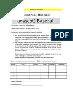 Sample Grade Sheet