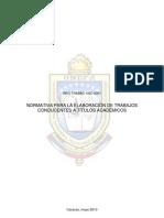 Normativa Elaboracion Trabajos Tiitulosp Inv Pre 2011