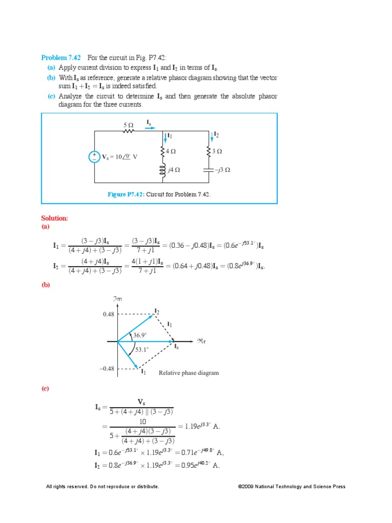 Hw2solutions Ac Power Electronic Engineering Phasor Diagram Of A Sinusoidal Waveform