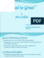 Good to Gr8 by jim Collins