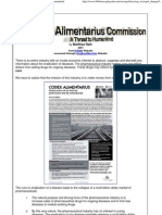 Codex Alimentarius Commission - A Threat to Humankind