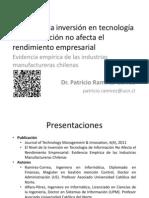 El nivel de la inversión TI en Chile