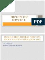 Principio de Bernoulli Fisica