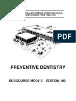 13030876 Army Preventive Dentistry