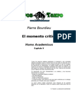 Bordieu, Pierre - El Momento Critico