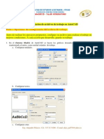 Tutorial Configuracion y Ejercicios Basicos de AutoCAD 2D