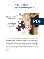 A Hope for Change - Joshua Freedman