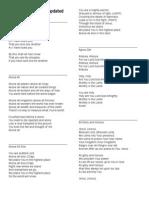 Top worship songs lyrics