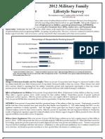 Blue Star Families 2012 Military Family Lifestyle Survey Summmary