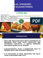 LPPOM MUI Halal Requirement for Slaughtering