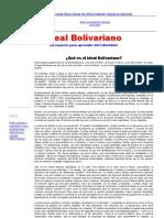 (Ideal Bolivariano - ¿Qué es el ideal Bolivariano_)