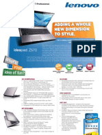 Lenovo IdeaPad Z570 Datasheet | Laptop | Personal Computers