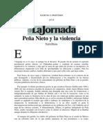 Peña Nieto y la violencia
