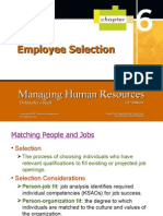 Chapter 6 Employee Selection